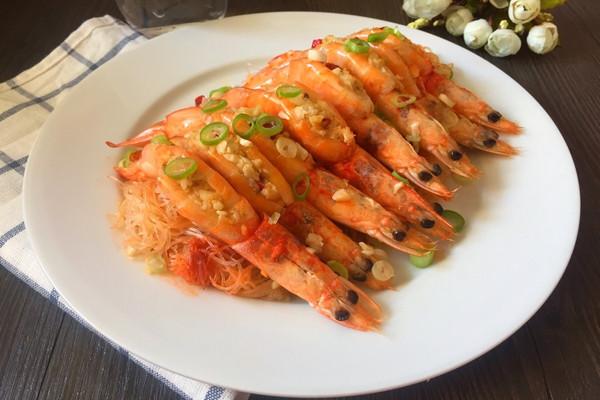 蒜蓉开片虾的做法