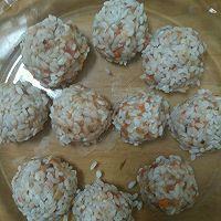 肉酿鹌鹑蛋和珍珠丸子的做法图解5