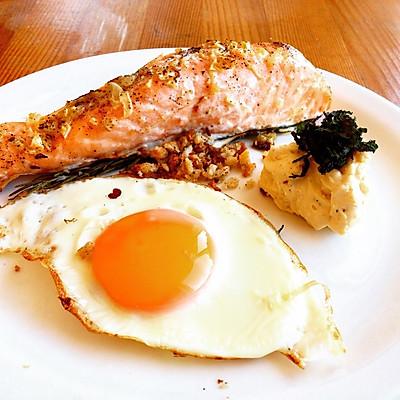 吃货减肥餐:高蛋白低脂香烤三文鱼