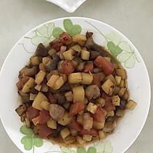 土豆西红柿炒肉丁