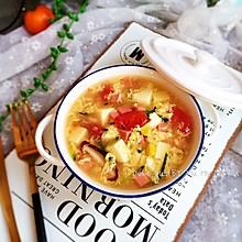 豆腐火腿蛋花汤(十分钟快手汤)