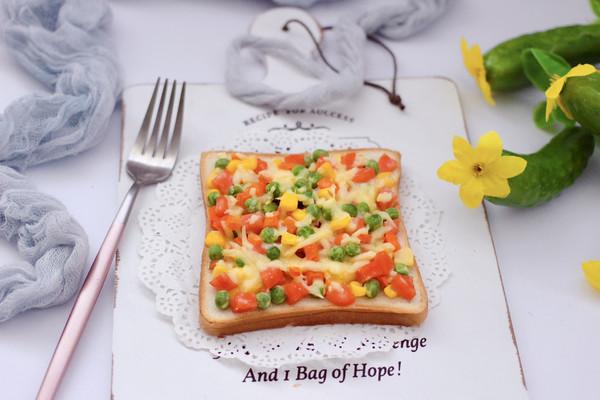 田园时蔬吐司披萨的做法