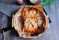 #名厨汁味,圆中秋美味#鲜虾吐司披萨的做法