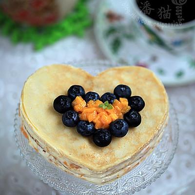 可丽饼芒果蛋糕