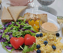 #我们约饭吧#超简单高颜值brunch盘的做法