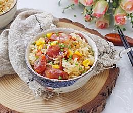 #今天吃什么#腊肠杂蔬焖饭(电饭锅版)的做法