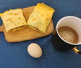 #换着花样吃早餐#小朋友爱吃的煎饼果子的做法