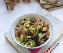 蚝油香菇白菜的做法