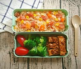 黑椒猪扒×番茄饭便当,营养美味零失误!的做法