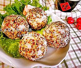 三色藜麦鸡肉卷饭团的做法