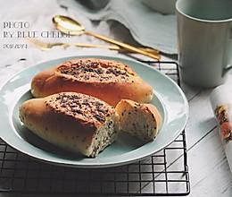 青酱全麦法式面包的做法