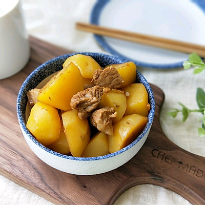 小土豆油焖五花肉的做法 步骤9