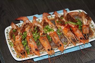 蒜蓉粉丝蒸大虾———简单的宴客菜