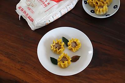 香菇肉馅蒸饺:饺子也有新花样,比传统的包法好看又简单