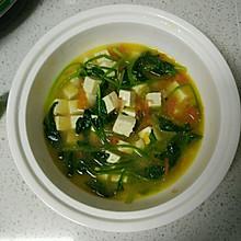 西红柿菠菜豆腐汤