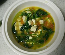西红柿菠菜豆腐汤的做法