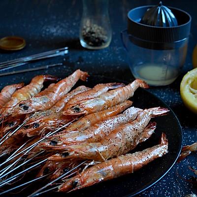 柠香盐烤虾