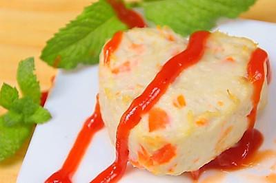 胡萝卜莲藕鸡块 宝宝辅食,胡萝卜+鸡胸肉+莲藕
