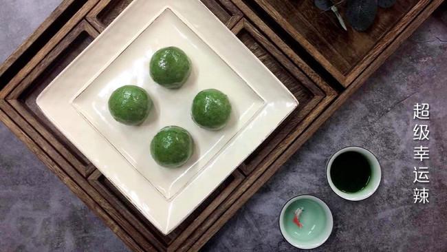 青团(咸蛋黄肉松味和香甜豆沙味)的做法