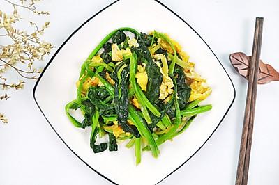 菠菜炒鸡蛋,补铁补钙快手家常菜。