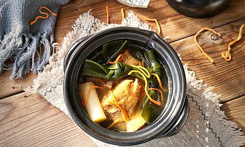 虫草花海带脊骨汤的做法