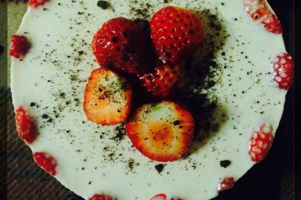 草莓冻芝士6寸的做法