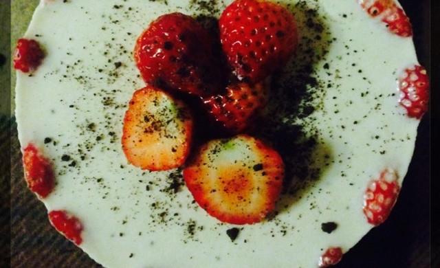 草莓冻芝士6寸