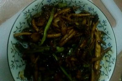 干锅茶树菇四季豆