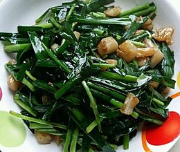 韭菜炒瑶柱的做法