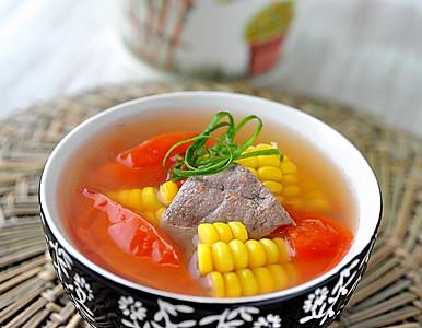 玉米番茄猪肝汤的做法