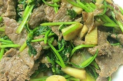 爆炒香菜牛肉