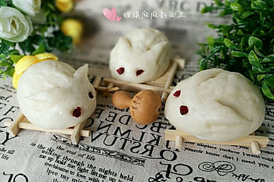 小兔子绿豆沙包