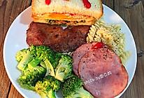 精美西式早餐三明治#百吉福芝士力量#的做法