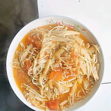 西红柿金针菇
