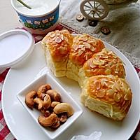 超松软的杏仁片牛奶面包#松下烘焙魔法世界#的做法图解11