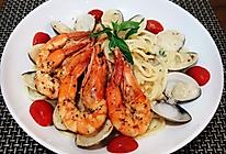 白酱海鲜意大利面的做法