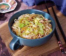 圆白菜肉丝炒面的做法