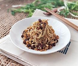 蒜泥豉香百叶丝的做法