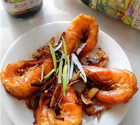 豆果菁选酱油试用----酱油爆炒虾的做法