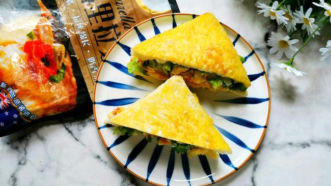 芝士鸡蛋蟹棒三明治的做法