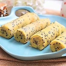 黄油黑芝麻蛋卷 宝宝健康食谱