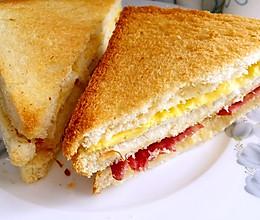 培根鸡蛋三明治(烤箱版)٩(˃̶͈̀௰˂̶͈́)و的做法