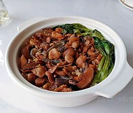 小黄蘑菇焖鸡饭的做法