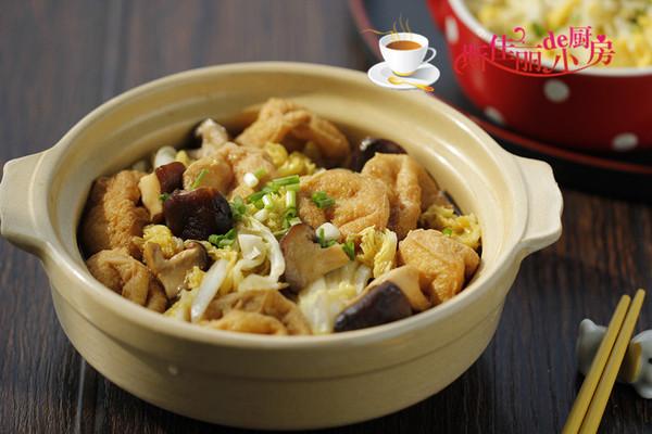 香菇豆腐泡娃娃菜的做法