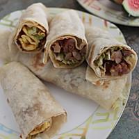 鸡肉卷(附墨西哥饼的做法)#急速早餐#的做法图解11