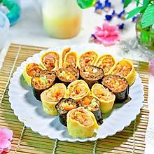 快手花样 蛋卷粽 寿司粽#精品菜谱挑战赛#