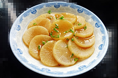 蚝汁炖白萝卜