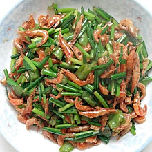 韭花炒河虾