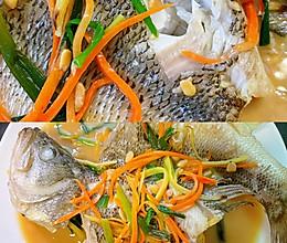 普宁豆酱煮鲈鱼的做法