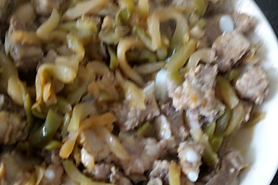 杂菜蒸排骨